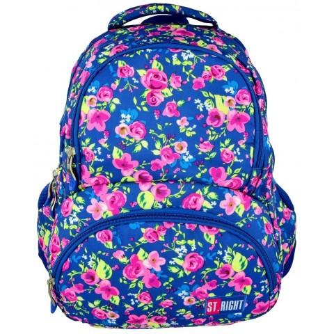 Plecak młodzieżowy 07 ST.RIGHT FLOWERS NAVY BLUE niebieski w kwiaty
