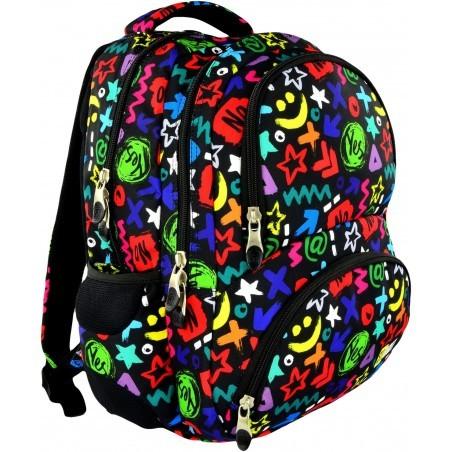 Plecak młodzieżowy 07 ST.RIGHT YES OR NO kolorowe napisy