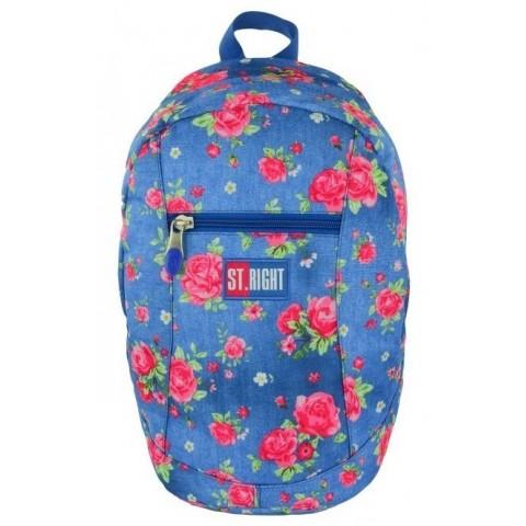 Plecak miejski, wycieczkowy 09 ST.RIGHT GARDEN niebieski w róże