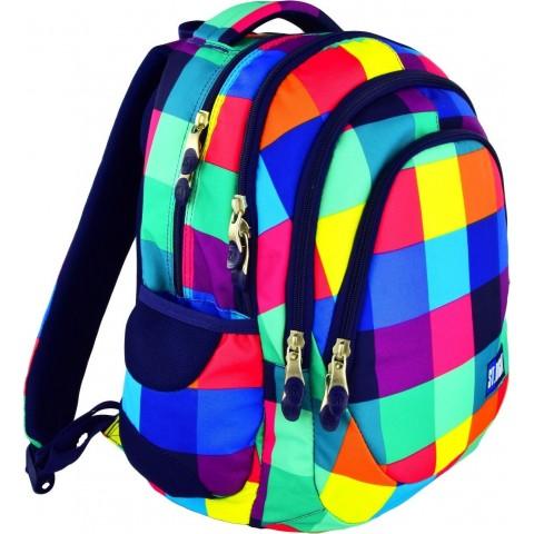 Plecak młodzieżowy 06 ST.RIGHT MAXI SQUARES kolorowe kwadraty