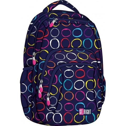 Plecak młodzieżowy 25 ST.RIGHT HOOPS kolorowe kółka