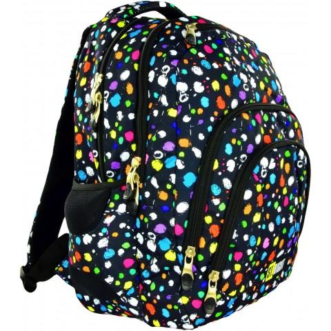 Plecak młodzieżowy 25 ST.RIGHT SPLASH czarny w kropki