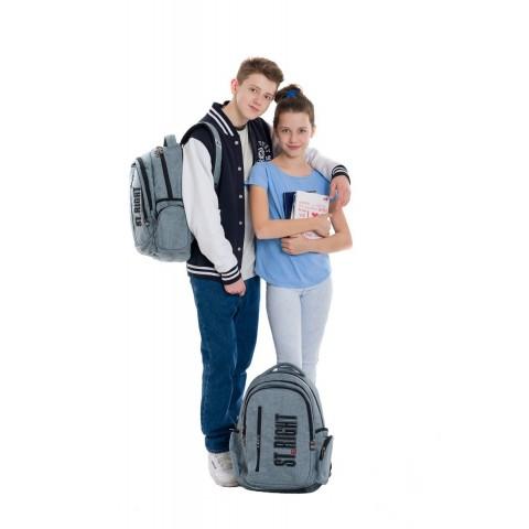 Plecak młodzieżowy 12 ST.RIGHT MELANGE szary