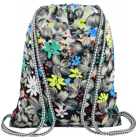 Worek / plecak na sznurkach ST.RIGHT FLOWERS BLACK