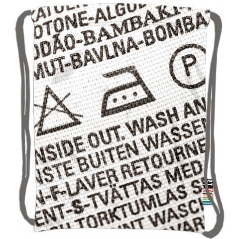 Worek / plecak na sznurkach ST.RIGHT LABEL etykieta / metka