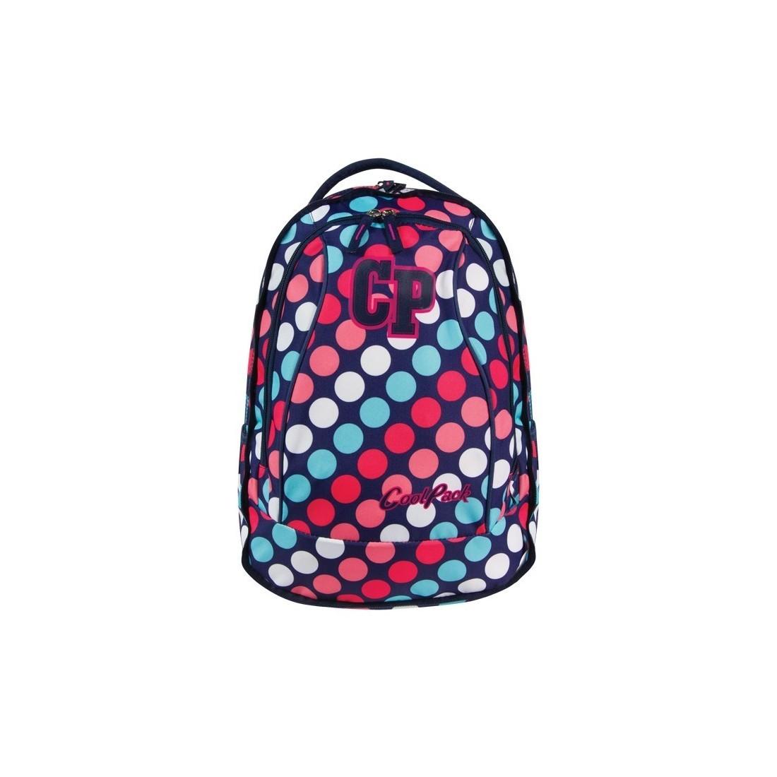 PLECAK COOLPACK MŁODZIEŻOWY 2w1 COMBO DOTS CP 031 Kolorowe Kropki - plecak-tornister.pl