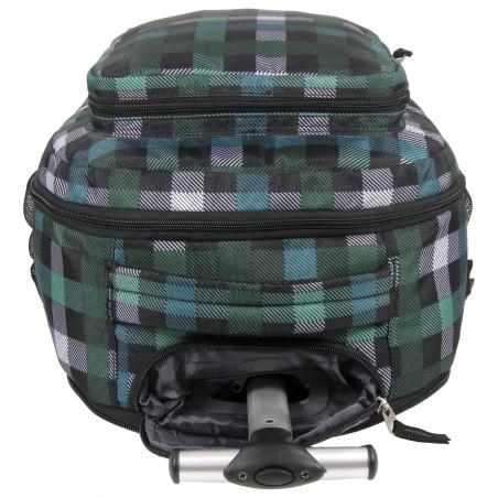 Plecak na Kółkach Zielony w Kratę