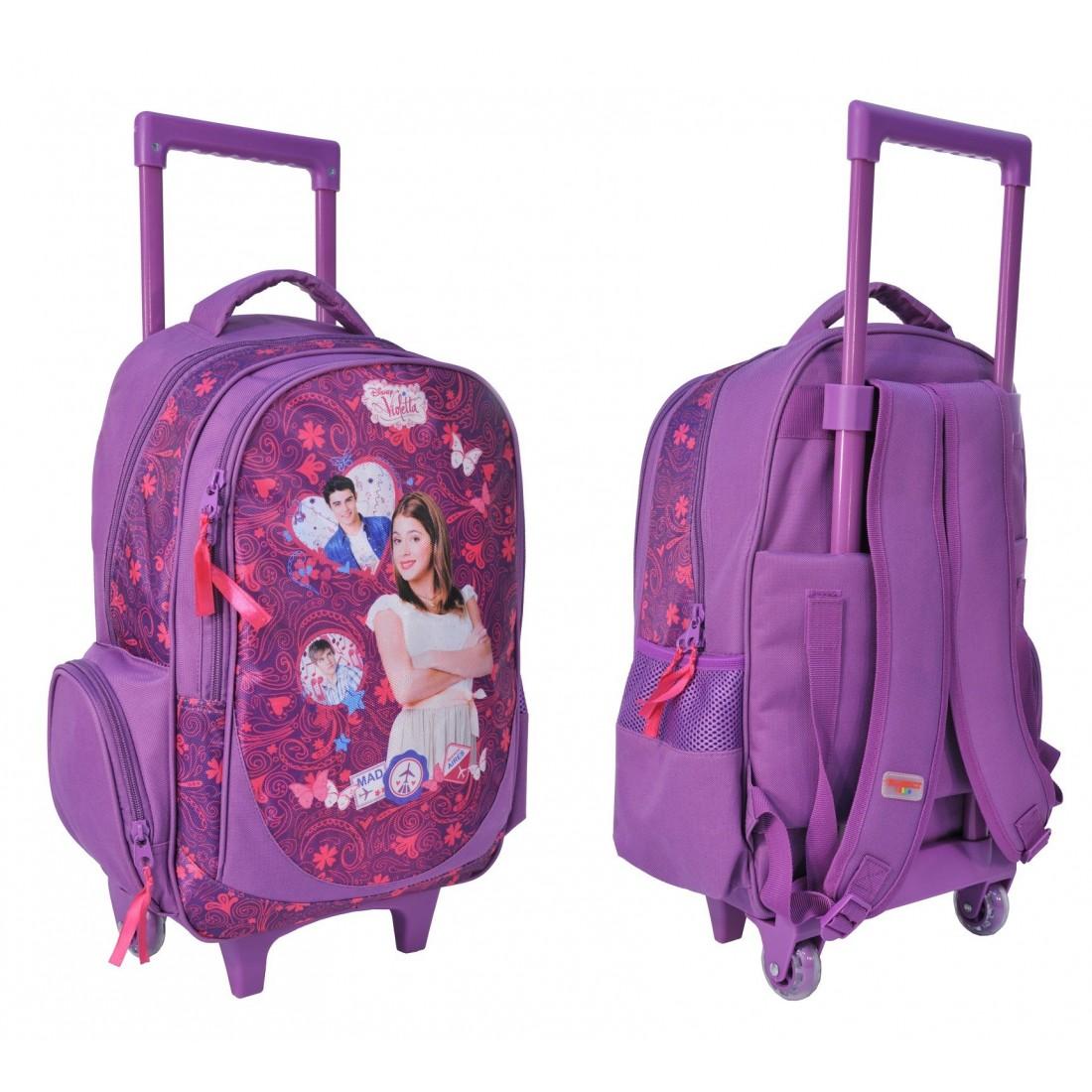 Plecak na kółkach Violetta - plecak-tornister.pl