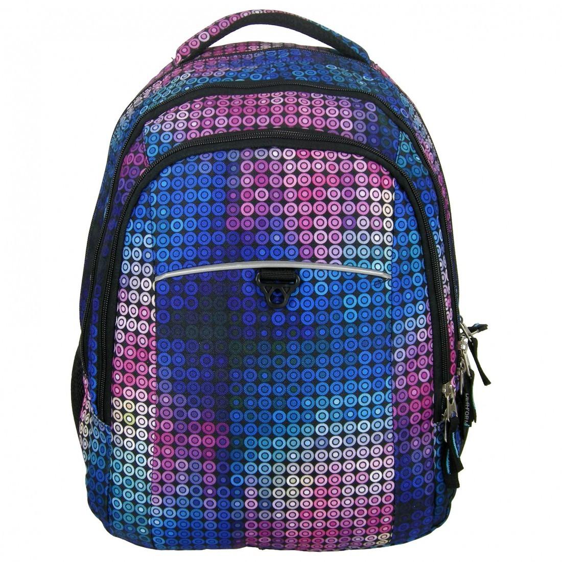 Plecak Jetbag Młodzieżowy Kolorowe Kółka - plecak-tornister.pl