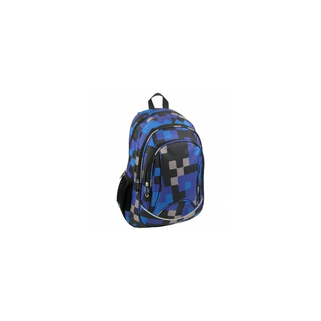 Plecak Młodzieżowy Krata Granatowo- Czarna