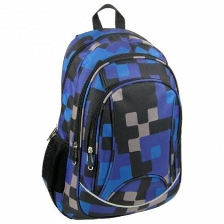 Plecak Jetbag Młodzieżowy Krata Granatowo- Czarny