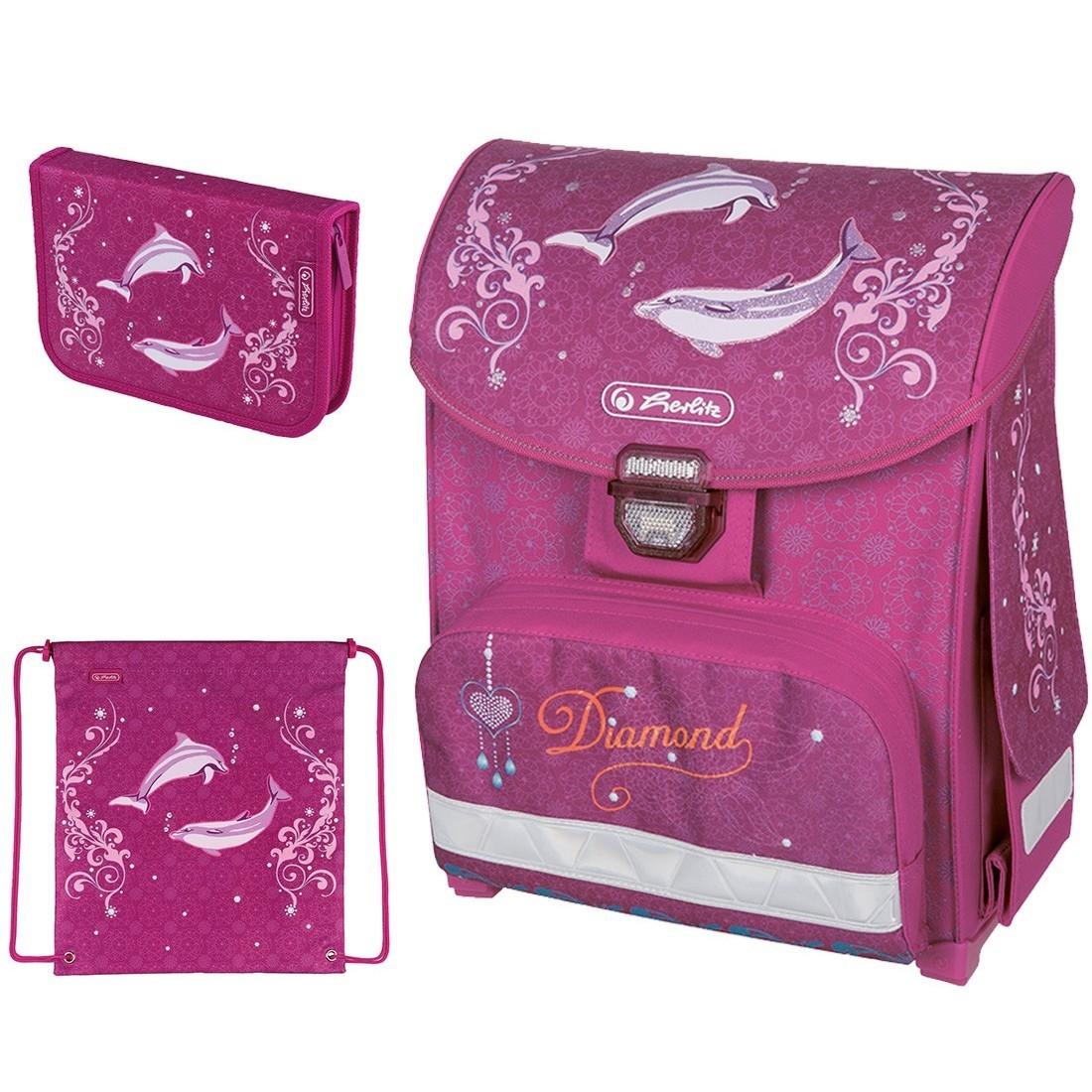 Zestaw Herlitz Smart 3el. Diamond Delfin - plecak-tornister.pl