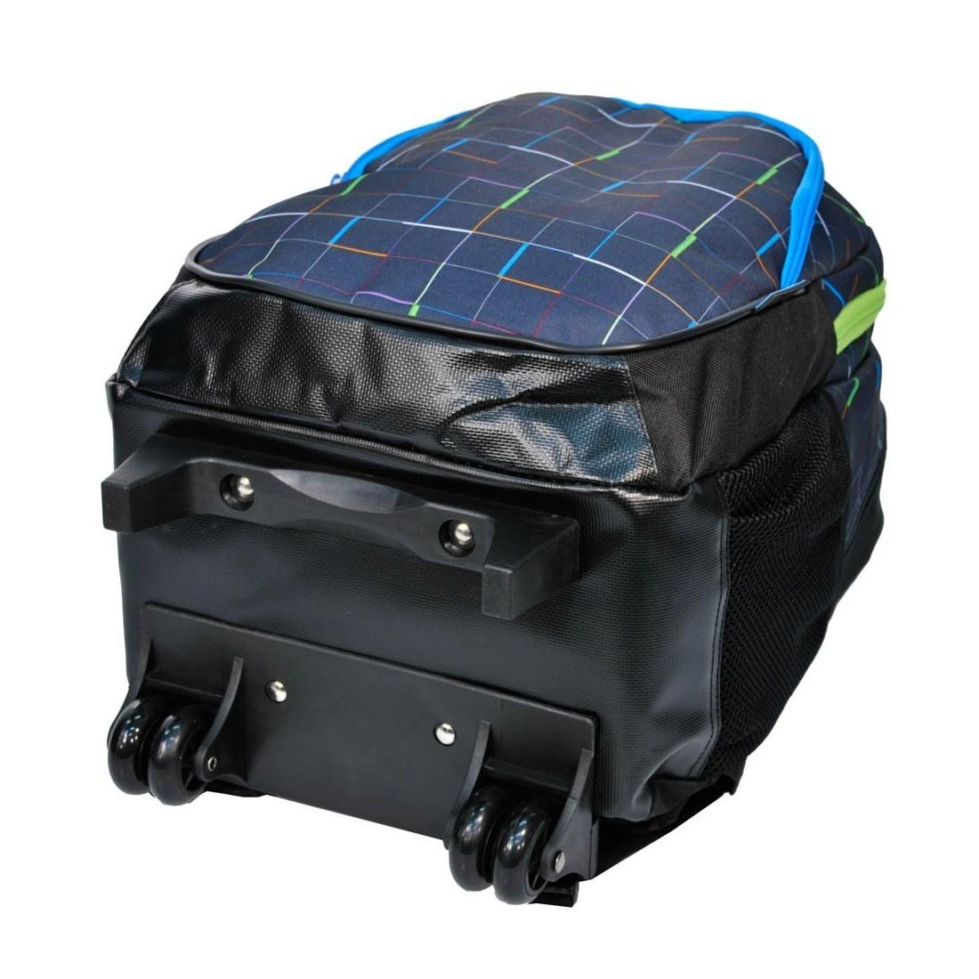 Plecak na kółkach w kolorowe kreski - plecak-tornister.pl