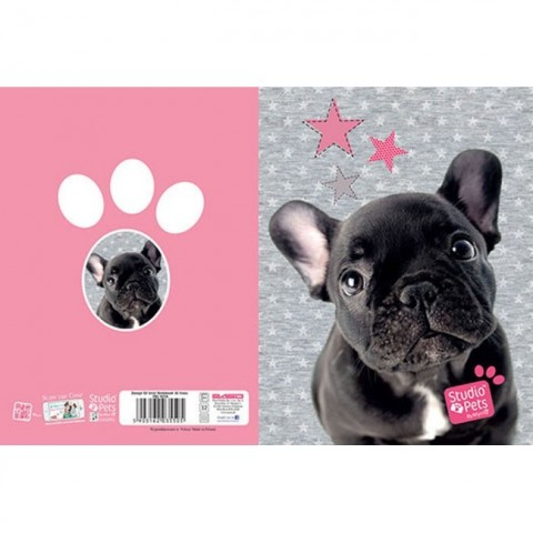 Zeszyt 32kart. linie Studio Pets - Buldog francuski