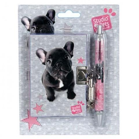 Zestaw z pamiętnikiem Studio Pets - Buldog francuski