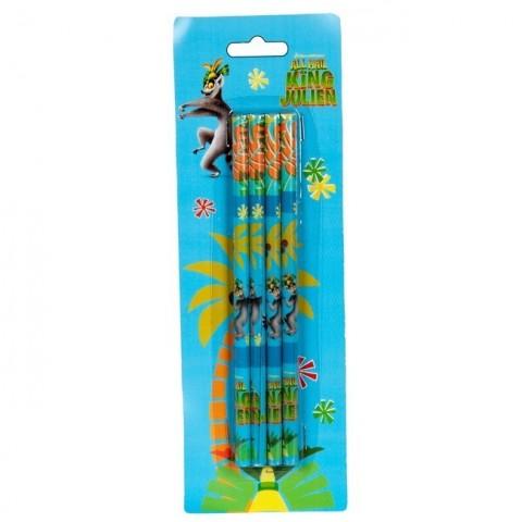 Zestaw ołówków Król Julian - niebieski