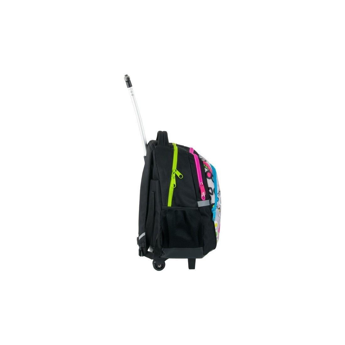 80623be5a9f65 Plecak na kółkach do szkoły Paso Dream Big kolorowy dla dziewczynki ...