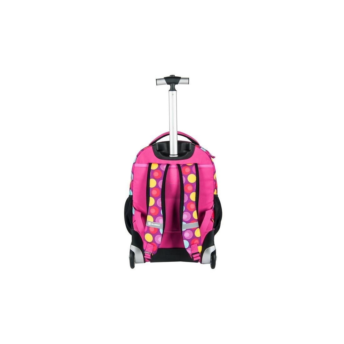 c47684fc2f456 Plecak na kółkach Paso Unique Pink Spot różowy dla dziewczynki ...