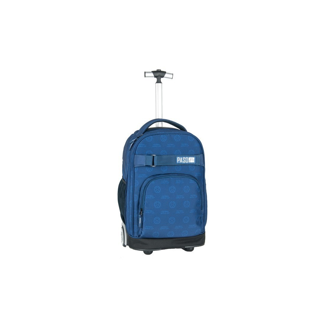 0c989001d0ce8 Plecak na kółkach Paso Dark Blue football niebieski dla chłopaka ...