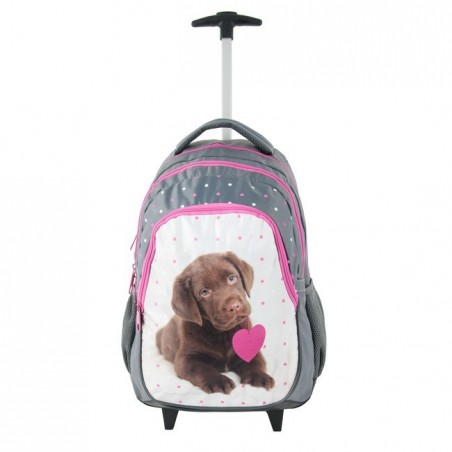 Plecak na kółkach Rachael Hale - brązowy labrador