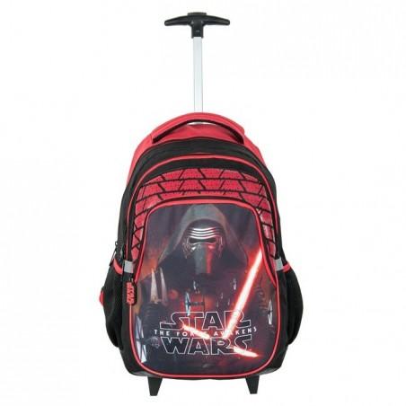 Plecak na kółkach Star Wars - czarno-czerwony