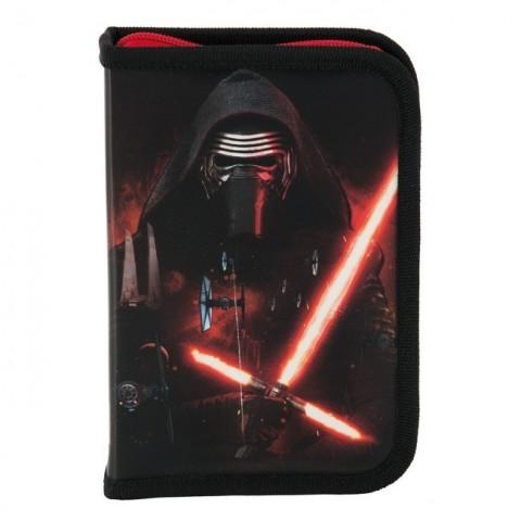 Piórnik z wyposażeniem Star Wars - czarno-czerwony