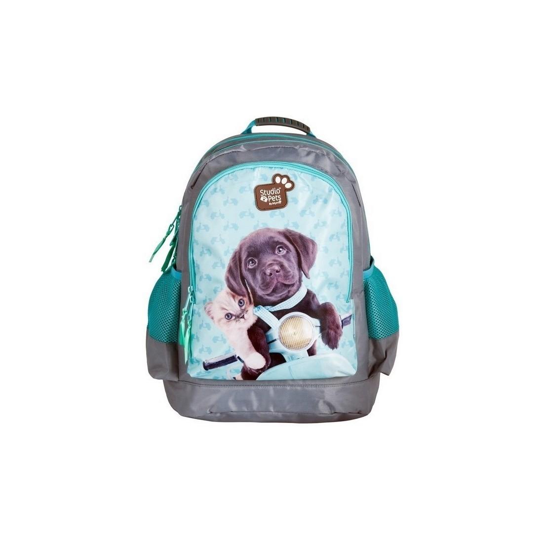 brak podatku od sprzedaży szczegółowe zdjęcia nowe style Plecak szkolny Studio Pets pies i kot na motorze