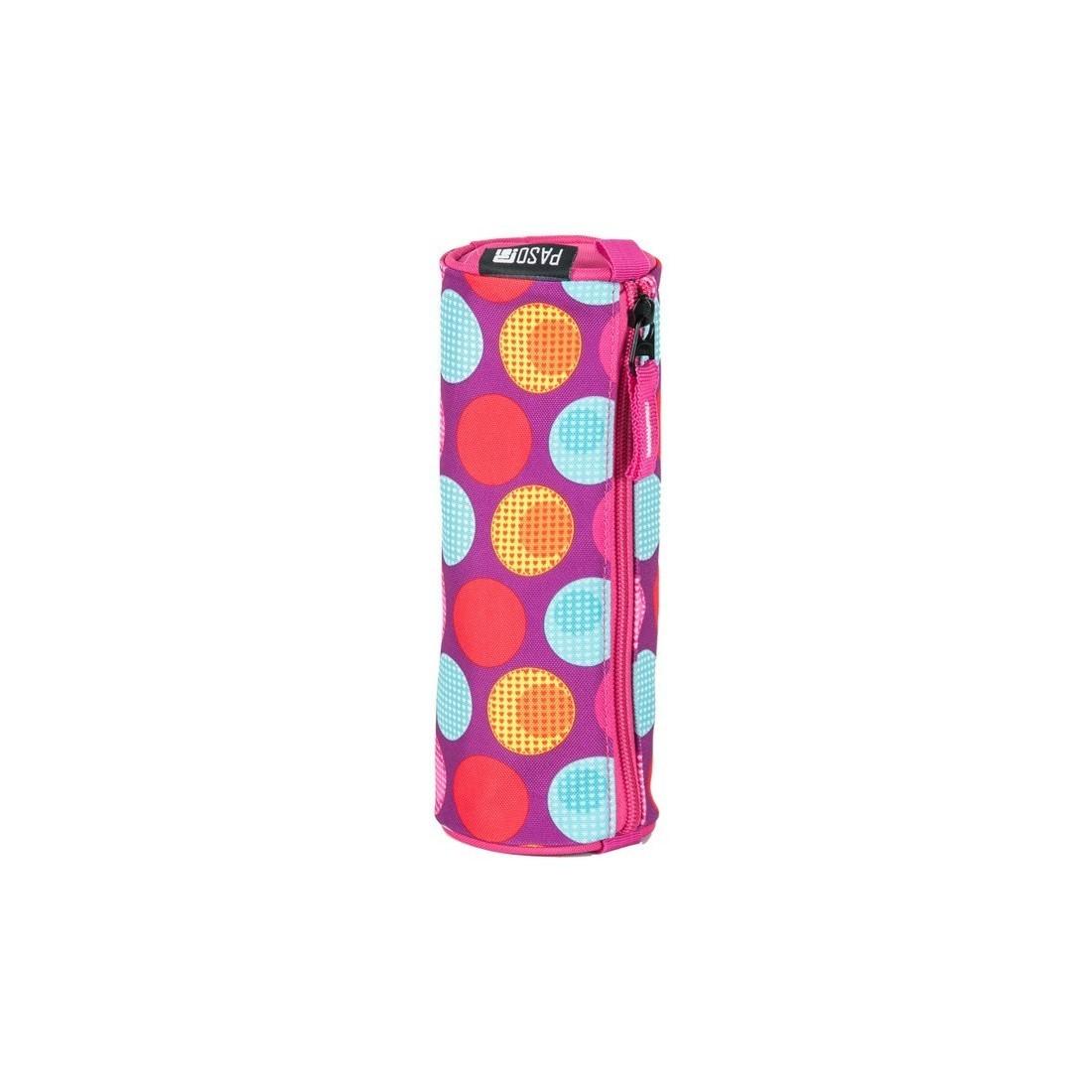 6b4d2aaccd427 Piórnik tuba Paso Unique Pink Spot - kolorowe kropki - plecak ...