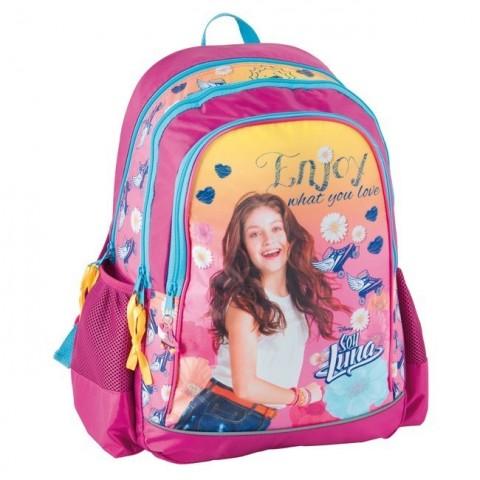 Plecak szkolny Soy Luna - różowy - wrotki