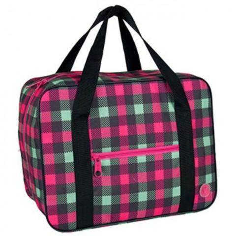 Torba podróżna / Bagaż podręczny - 42x31x22cm - w kratkę