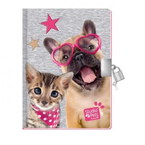 Pachnący pamiętnik Studio Pet's z psem i kotem