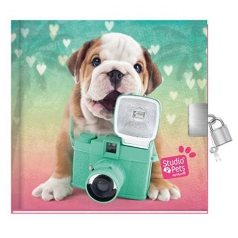 Pamiętnik Studio Pets kolorowy z buldogiem