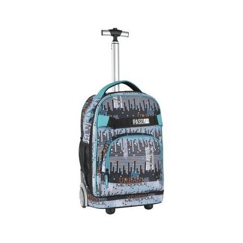 Plecak na kółkach Paso Unique City - miasto piksele
