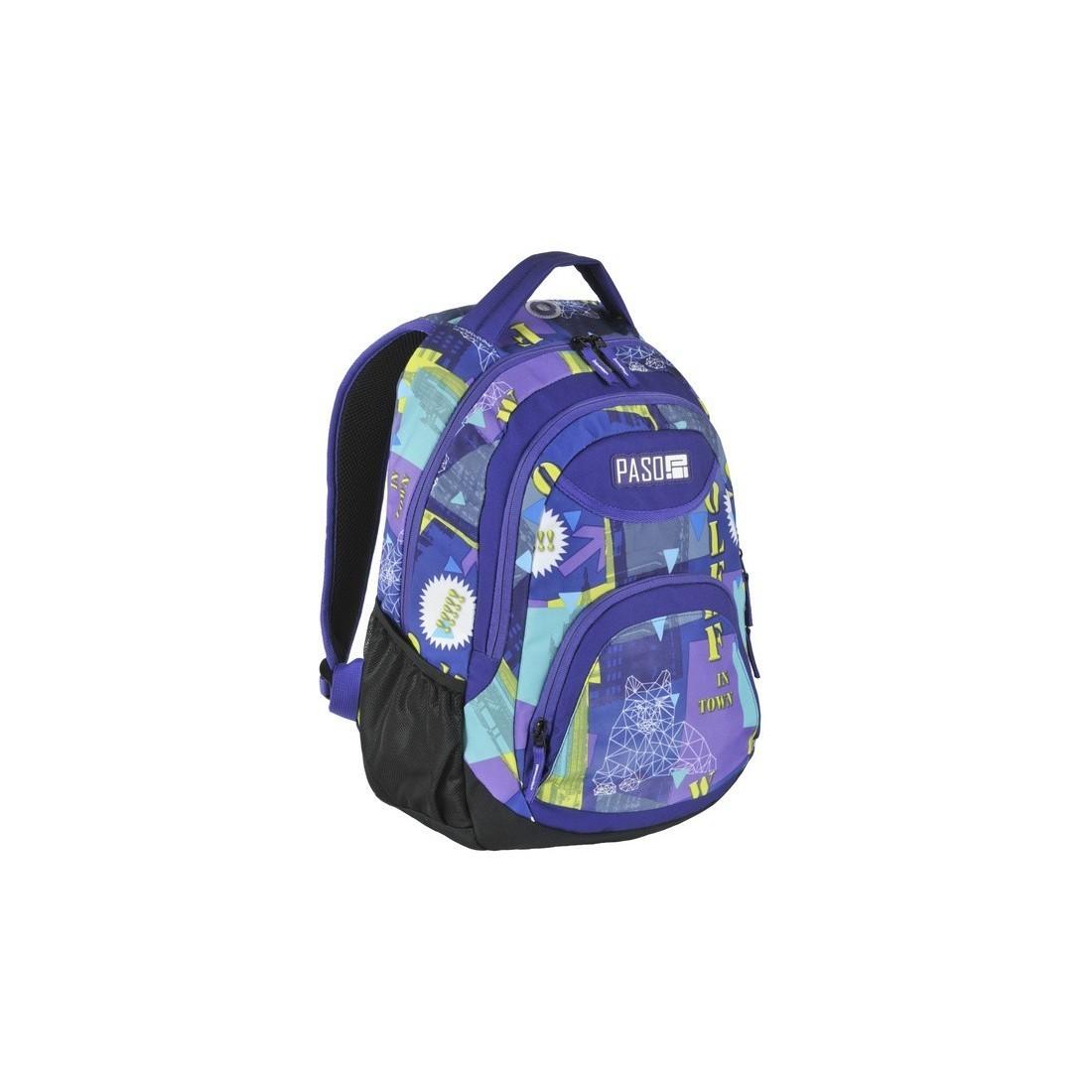 3bb828ea2ec21 Plecak młodzieżowy do szkoły Paso Wolf in town miasto dla dziewczyny ...