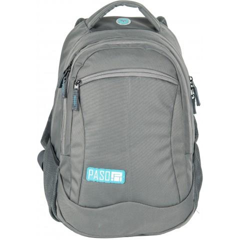 Plecak młodzieżowy Paso Unique Grey kolor szary