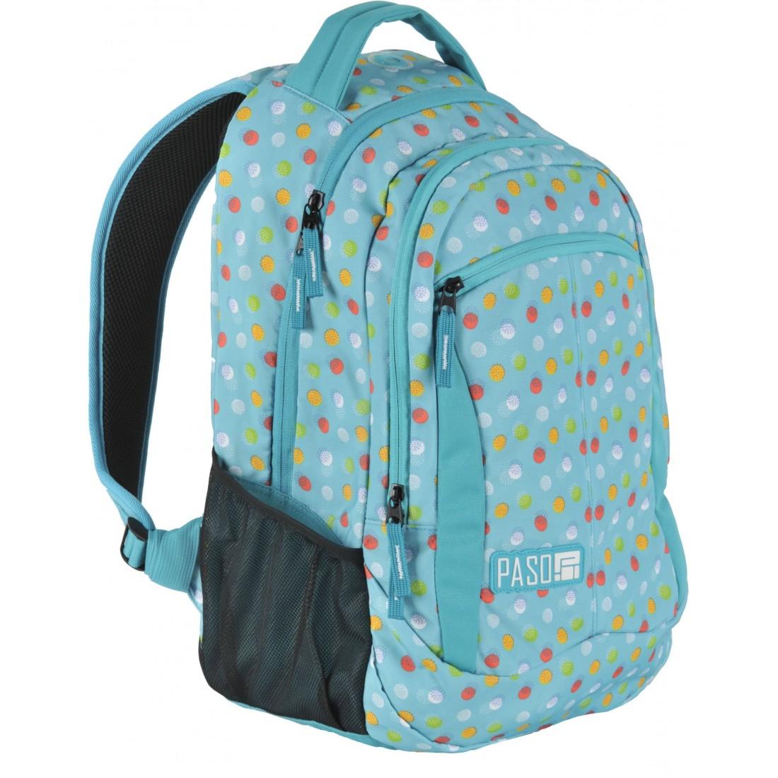 c66ae2339b2c8 Plecak młodzieżowy do szkoły Paso Unique Mint Spot dla dziewczyny ...