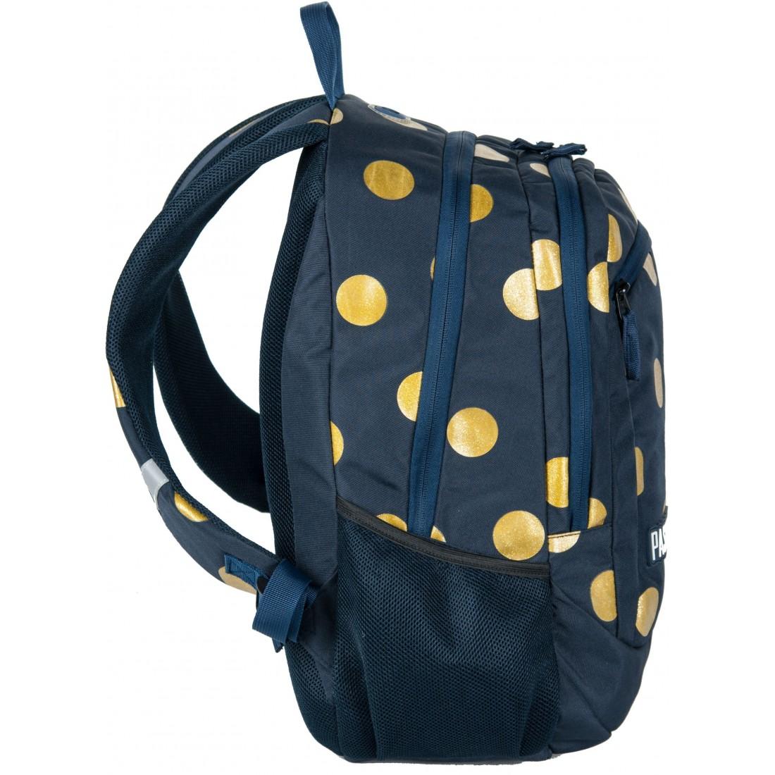 b8c5c8503c7f2 Plecak młodzieżowy do szkoły Paso Unique Gold Circle dla dziewczyny ...