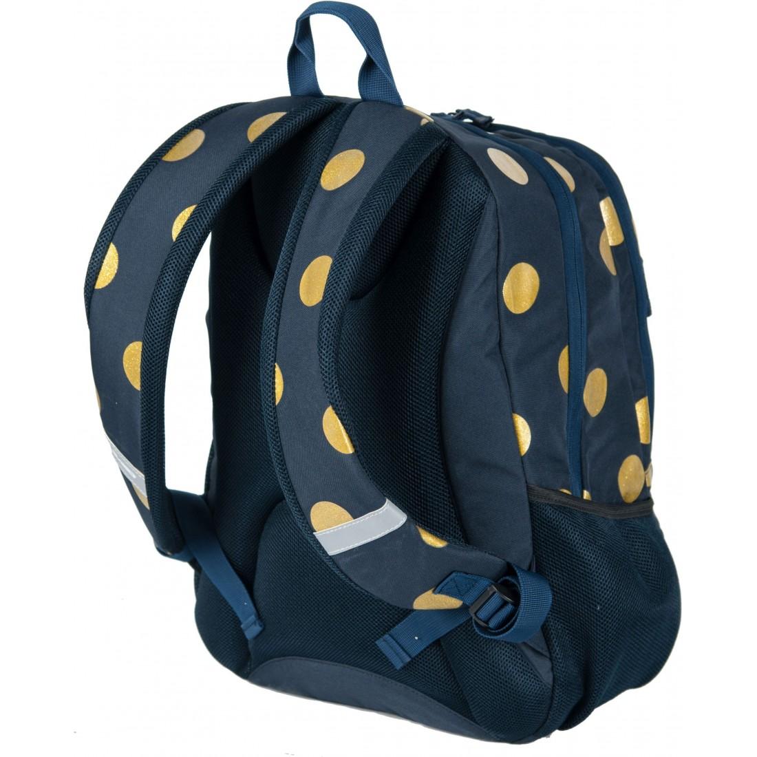4abc75fa529d3 Plecak młodzieżowy do szkoły Paso Unique Gold Circle dla dziewczyny ...