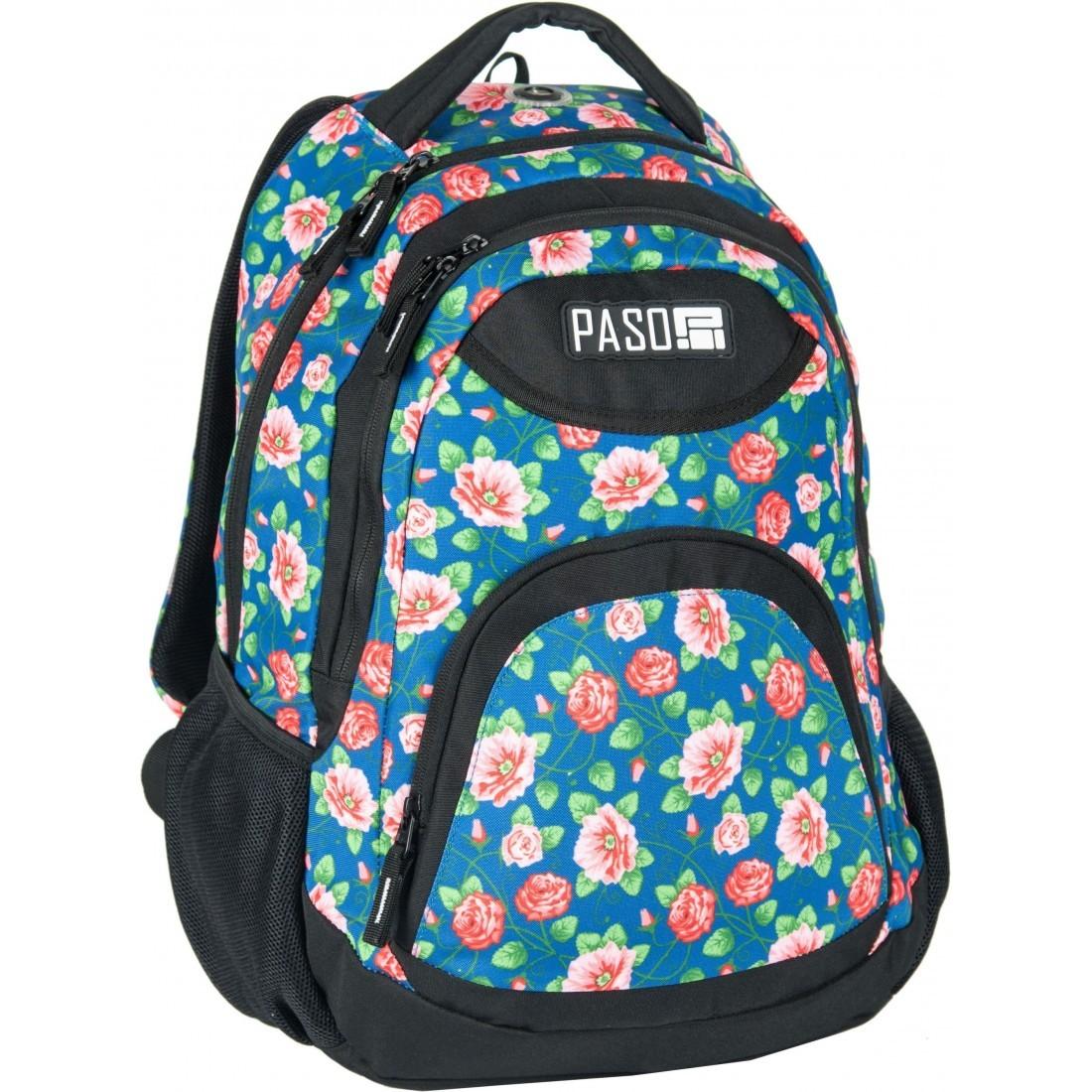 aa5a33e123484 Plecak młodzieżowy do szkoły Paso Unique City Flower dla dziewczyny ...