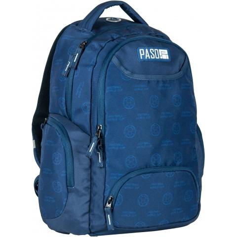 Plecak młodzieżowy Paso Unique Dark Blue niebieski football
