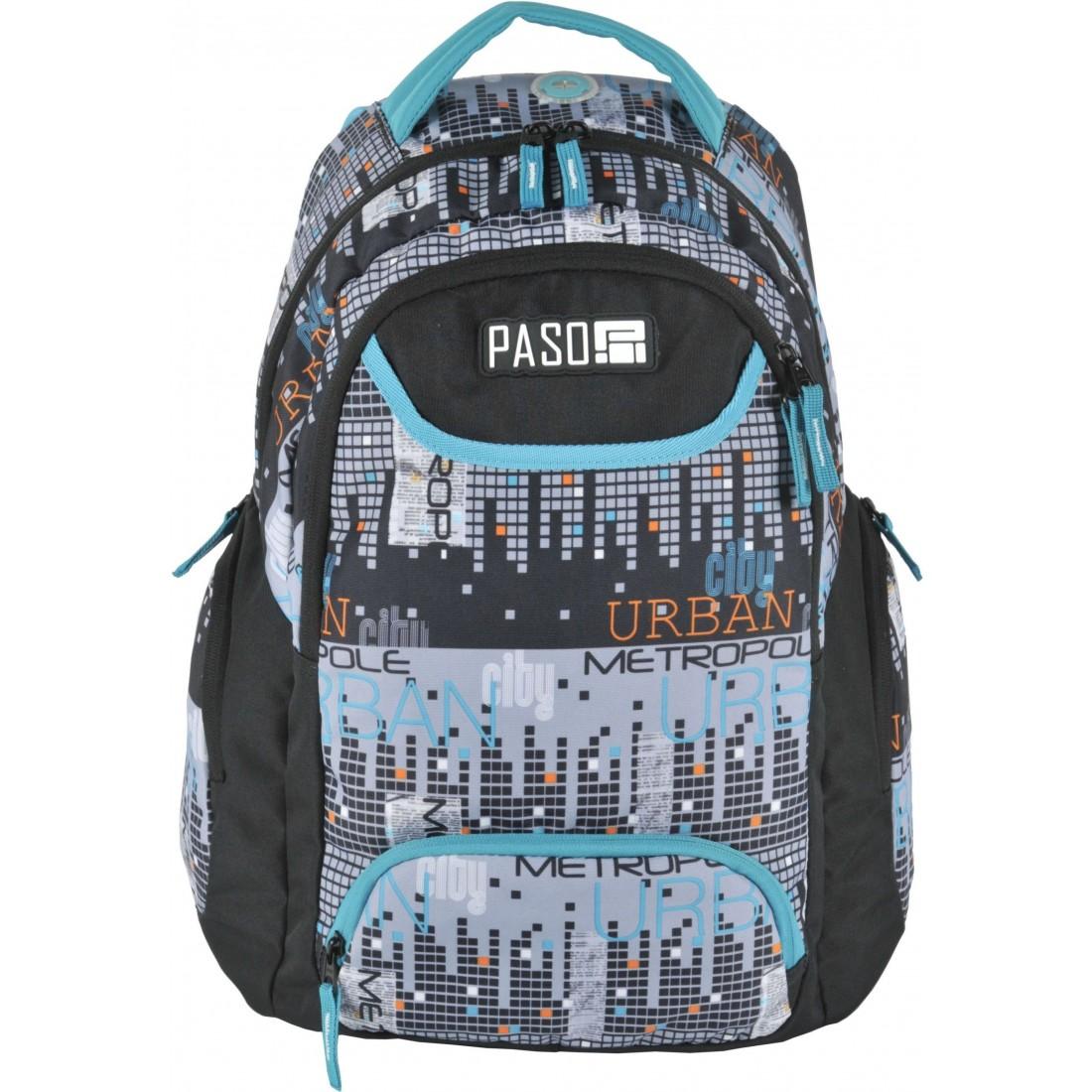 1c29c762d3a09 Plecak młodzieżowy do szkoły Paso Unique City miasto dla chłopaka ...