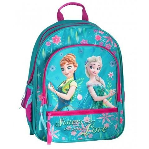 Plecak szkolny Frozen Kraina Lodu turkusowo-różowy