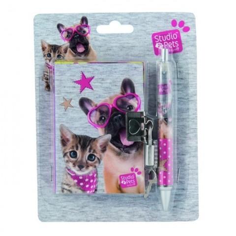 Zestaw z pamiętnikiem Studio Pet's z psem i kotem