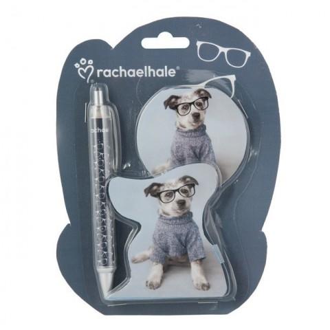 Zestaw 2 elementów Rachael Hale piesek w okularach