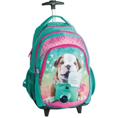 Plecak na kółkach Studio Pets z buldogiem