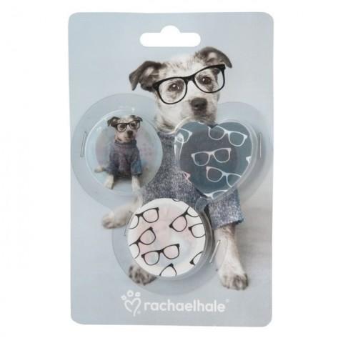 Zestaw gumek do mazania Rachael Hale piesek w okularach