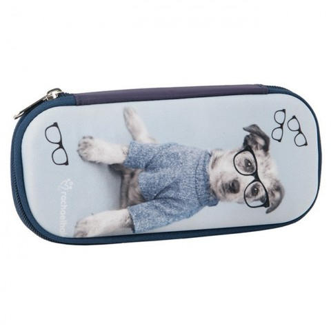 Piórnik twardy Rachael Hale piesek w okularach
