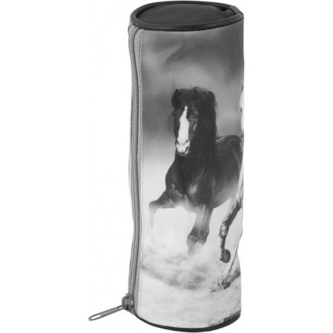 Piórnik tuba konie - szary