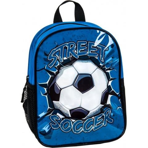 Plecaczek niebieski z piłką nożną