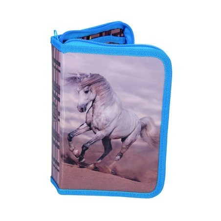 Piórnik z wyposażeniem z koniem